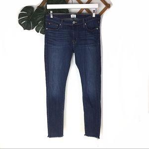 Hudson | Skinny Raw Hem Blue Jeans 30